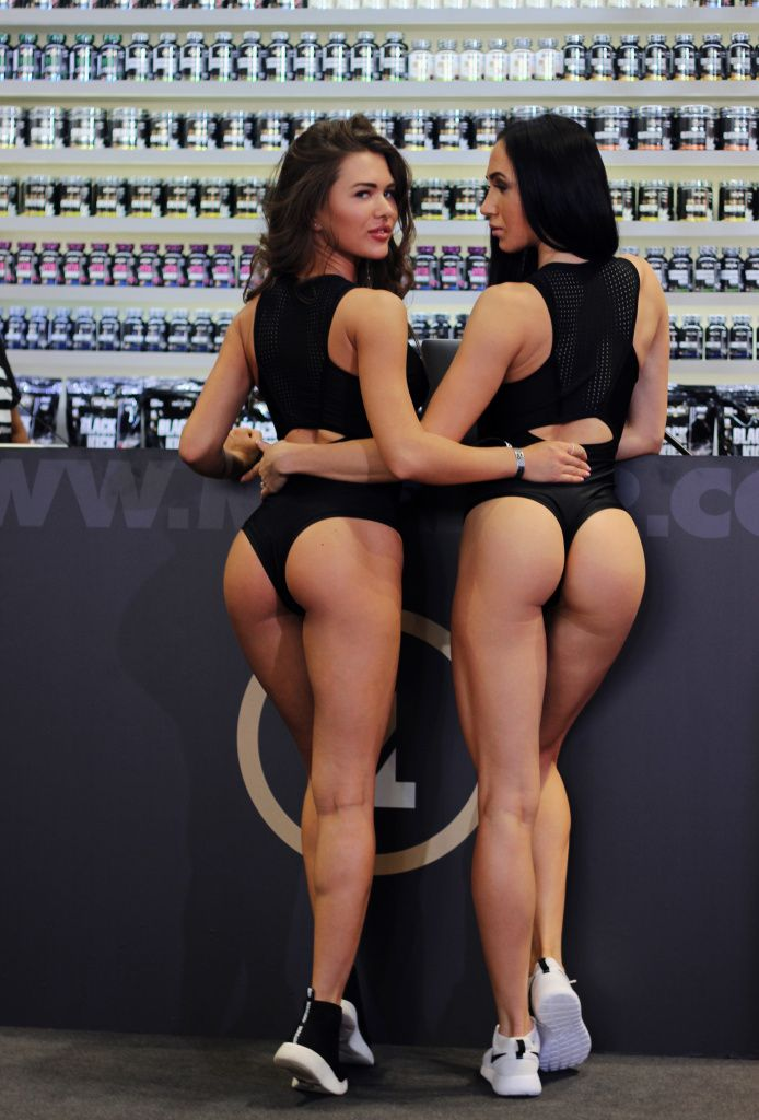 Gorgeous girls at Maxler booth